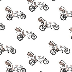 Fun bicycle rickshaw illustration india traffic bike print gender neutral beige