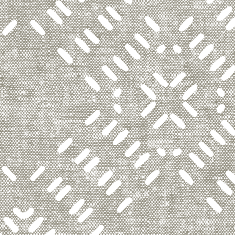 modern farmhouse tile LARGE scale (beige) fabric by littlearrowdesign on Spoonflower - custom fabric
