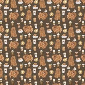 pomeranian dog fabric (very small size) coffee cute dog design, pom dog, coffee fabric
