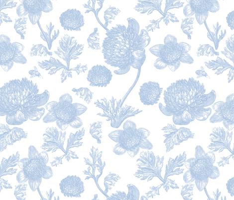 Edda Toile blueberry 1 fabric by lilyoake on Spoonflower - custom fabric