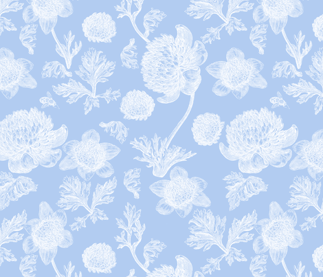 Edda Toile blueberry 2 fabric by lilyoake on Spoonflower - custom fabric