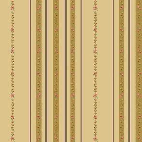 Loads of stripes on mustard