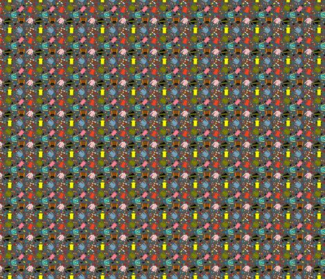 Triple Crown silks gray 2x2 fabric by leroyj on Spoonflower - custom fabric
