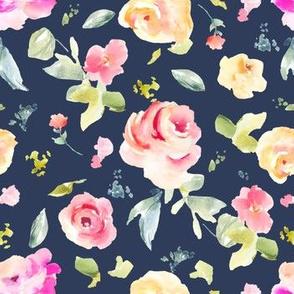 Callie Navy Blue Florals