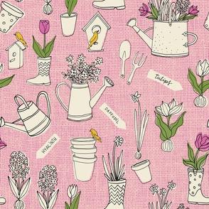 Gardening in pink