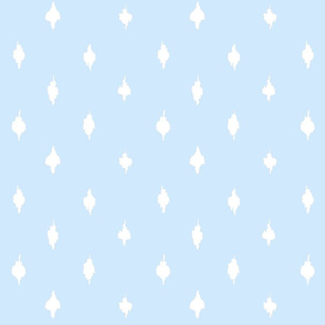 Farmhouse baby blue polka dots