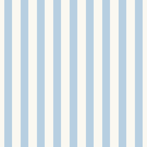 Icy blue stripe on cream Mary Poppins Apron  fabric by jenlats on Spoonflower - custom fabric