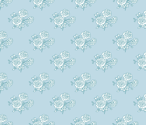 chintz - baby blue fabric by designed_by_debby on Spoonflower - custom fabric