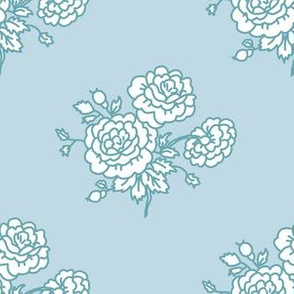 chintz - baby blue