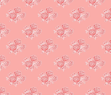 chintz - pink fabric by designed_by_debby on Spoonflower - custom fabric
