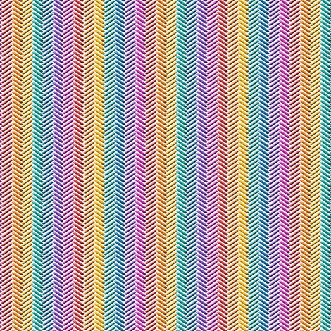 rainbow stitching on white fabric by clothcraft on Spoonflower - custom fabric