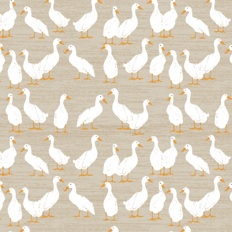Ducks In A Row fabric by sarah_treu on Spoonflower - custom fabric