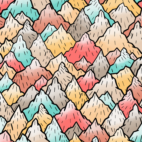 Mountains fabric by elena_naylor on Spoonflower - custom fabric