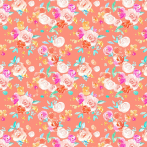 Coloras Peach Florals