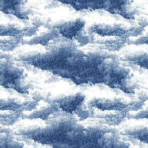 Clouds wallpaper in navy