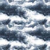 Clouds wallpaper in navy