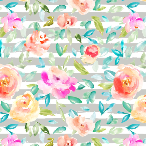 Peonia Stripe fabric by angiemakes on Spoonflower - custom fabric