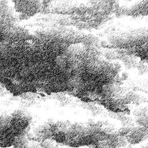 Clouds wallpaper black and white