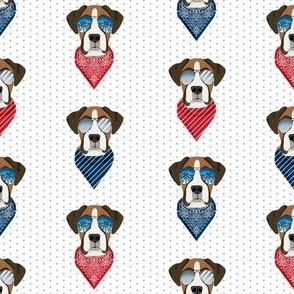 boxer sunglasses dog breed summer fabric white