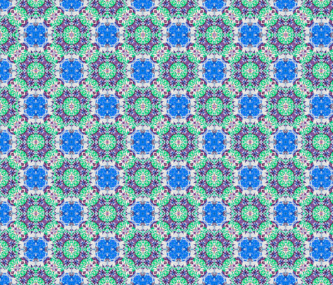 Delicate Diamonds in Blue, Teal & Purple fabric by just_meewowy_design on Spoonflower - custom fabric