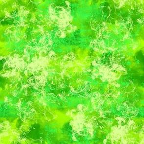 Lusciously Green Marbling