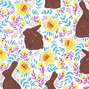 Chocolate Rabbits on White