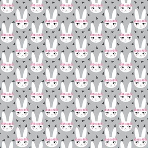 bunny rabbit grey baby nursery fabric cute baby design