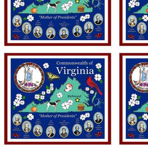 Placemat Virginia map