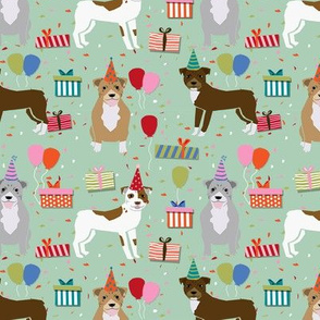 pitbull mixed birthday party dog breed fabric mint