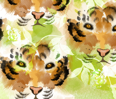 Eye of the Tiger fabric by little_lizzie_design on Spoonflower - custom fabric