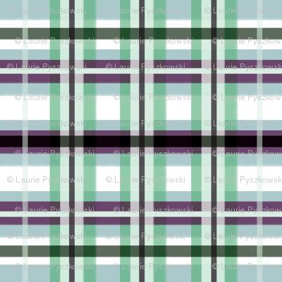 Plaid in Blue, Green & Purple