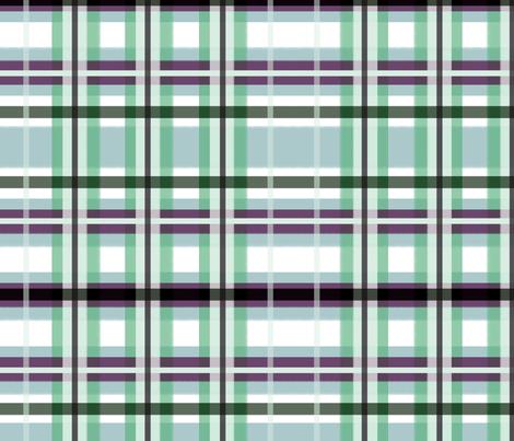 Plaid in Blue, Green & Purple fabric by lauriekentdesigns on Spoonflower - custom fabric