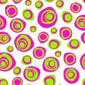 Perfectly imperfect circles hot pink and lime