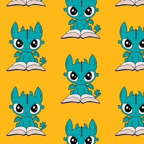 Book Dragon (Blue)