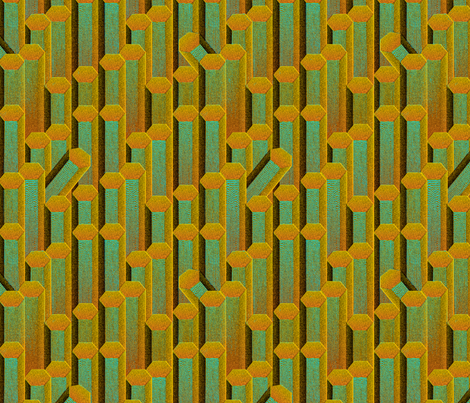 Colonnes Basaltiques 1a fabric by muhlenkott on Spoonflower - custom fabric