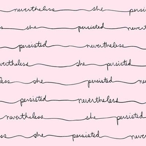 Persisting Stripes (Black Text on Pink)