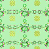 ornamental swirls in peppermint
