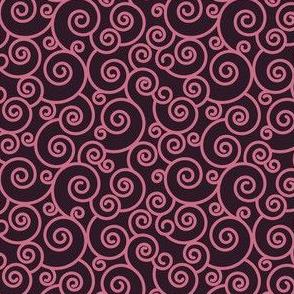 Hot Pink Spirals