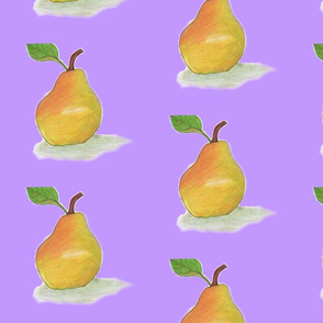 A Heavenly Pear in a Purple World
