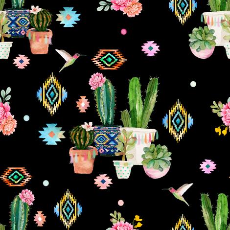 "8"" Valladolid - Black fabric by shopcabin on Spoonflower - custom fabric"