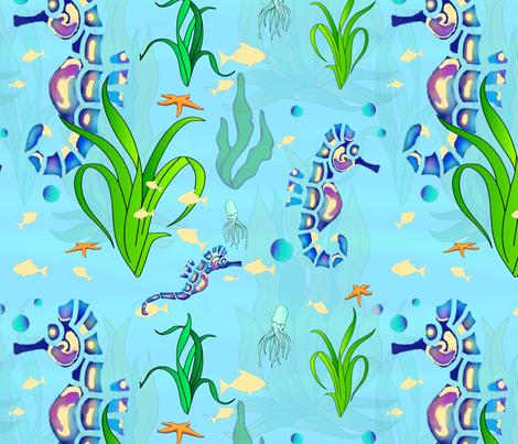Seahorse Tail Flickers fabric by adrianne_vanalstine on Spoonflower - custom fabric