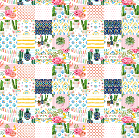 """4"""" Valladolid - Whole Cloth Cheater Quilt fabric by shopcabin on Spoonflower - custom fabric"""