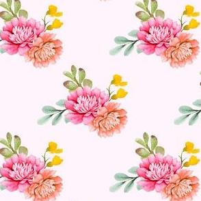 "4"" Valladolid Flowers - Pink"