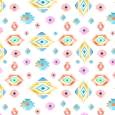 """6"""" Valladolid Flowers - Mix and Match 1 fabric by shopcabin on Spoonflower - custom fabric"""