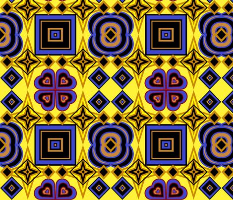 Twilight yellow fabric by ahuva_israel on Spoonflower - custom fabric