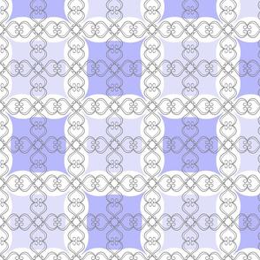 Amethyst Purple Grid with Scroll F