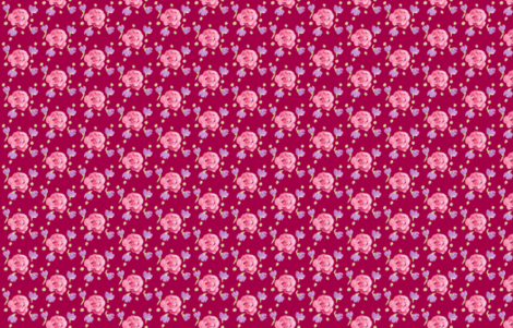 Rosies and posies-ch fabric by mamadee on Spoonflower - custom fabric