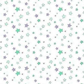 "Sea Stars Mint/Lavender 3"""