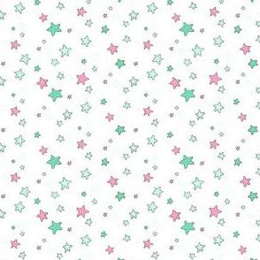 """Sea Stars Green/Pink 3"""""""