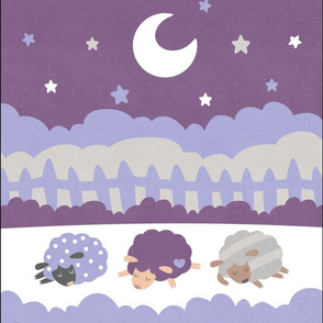 "Sleepy Sheep Blankets 13.5""x18"" Lavender"